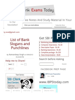 List of Bank Slogans and Punchlines _ Bank Exams Today