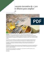 Chinalco Concreta Inversión de 1 300 Millones de Dólares Para Ampliar Toromocho