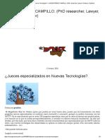 ¿Jueces Especializados en Nuevas Tecnologías_ – LORENA PÉREZ CAMPILLO