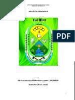 Manual de Convivencia institución Educativa Agropecuario La Planada 2016
