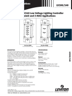 Low Voltage Switches - LV200-240 DATASHEET