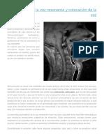 Fisiologia de Voz Resonante y Colocacion de La Voz