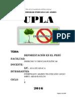 Monografia Completa de Deforestacion