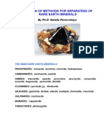 SELECTION OF METHODS FOR SEPARATING OF RARE EARTH MINERALS