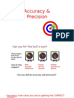 Accuracy and Precision and Measuring