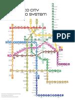Mexico City Metro Map October 2015