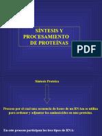 Síntesis Proteica y Procesamiento 2016