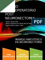 Manejo Intraoperatorio (Adaptativo) en Neumonectomia