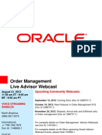 Oracle Fusion -Mfg OM