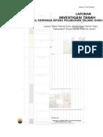 Laporan Investigasi Tanah Pelabuhan Talang Duku Pelindo 2