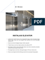 Pemeliharaan Lift