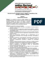 Proyecto de Ley Orgánica para el Fomento y Desarrollo del Sistema Económico Comunal