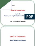 Obras de Saneamento - Etapas para implantação de Obras Públicas