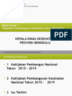 Kebijakan Pembangunan Kesehatan Tahun 2015-2019