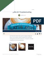 Latte Art Troubleshooting - Five Senses Coffee