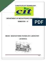 ME6465 Manufacturing