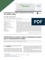Jurnal Optimalisasi Kompresi Uap Pompa Kalor Untuk Pendinginan Satelit