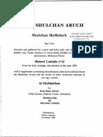 Shulkhan Arukh Shabbat