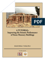 A-tutorial Improving the Seismic Performance of Stone Masonry Buildings
