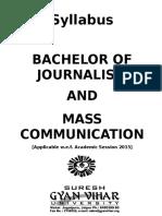 Gyan Vihar BJMC-Syllabus 2015-16