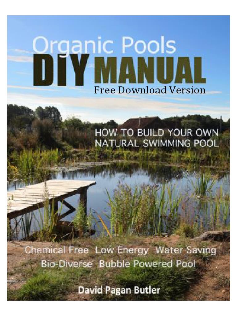 Diy Natural Pool Manual Free Version Swimming Pool Pump