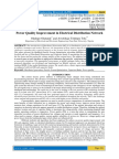 Power Quality Improvement in Electrical Distribution Network