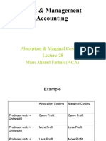 Absorption & Marginal Costing