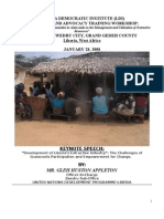 Development of Liberia's Extractive Industry