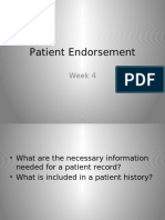 Patient Endorsement