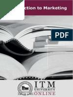 Introduction to Marketing | Itm University