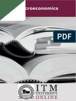 MicroEconomics | ITM University