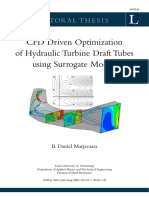 Thesis Cfd Driven Optimization of Hydraulic Turbines Draft Tubes Using Surrogate Models 2006