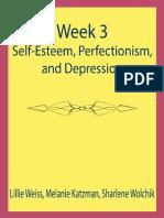 Week 3-Self-esteem Perfectionism and Depression