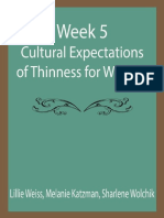 Week 5-Cultural Expectations of Thinness