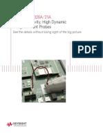 Keysight 50 Mikro Ampere Current Probe for Oscilloscope - 5991-1711EN