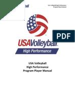 2016 USA Volleyball High Performance Player Manual