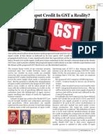 Seamless Input Credit in GST