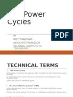 Gas Power Cycles Sivakumar.E VIT