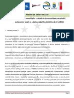 RAPORT DE MONITORIZARE a performanței autorităților centrale în domeniul descentralizării, autonomiei locale și a democrației locale (trimestrul 4, 2016)