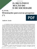 Arato - Ascensão, declínio e reconstrução do conceito de sociedade civil