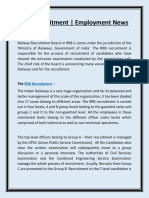 RRB Recruitment | Employment News