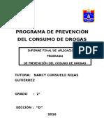 Informe Final de Tutoria 2016 Segundo