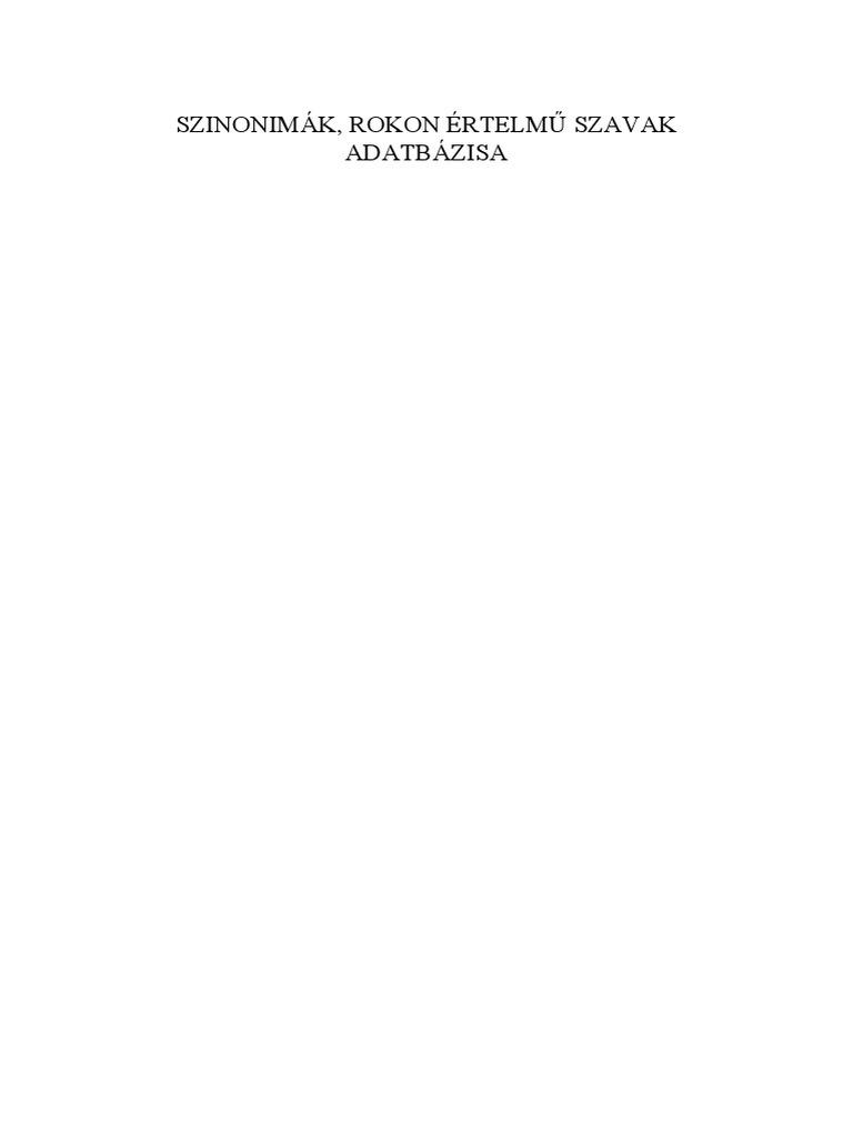 TAMOP-4 2 5-09 Szinonimak rokon ertelmu szavak adatbazisa.pdf 144fe59eb5