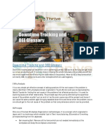Downtime Tracking and OEE Glossary