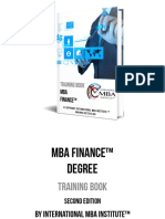MBA Finance Degree Training Book