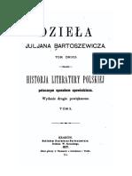Historja Literatury Polskiej II Juljan Bartosiewicz