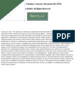 Ligeti Chamber Concerto Mvt3 Analysis Glenhalls