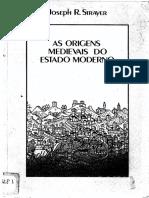 STRAYER, Joseph. as Origens Medievais Do Estado Moderno