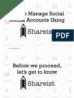 How to Manage Social Media Accounts Using Shareist