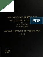 Benzoic Acid From Toluene
